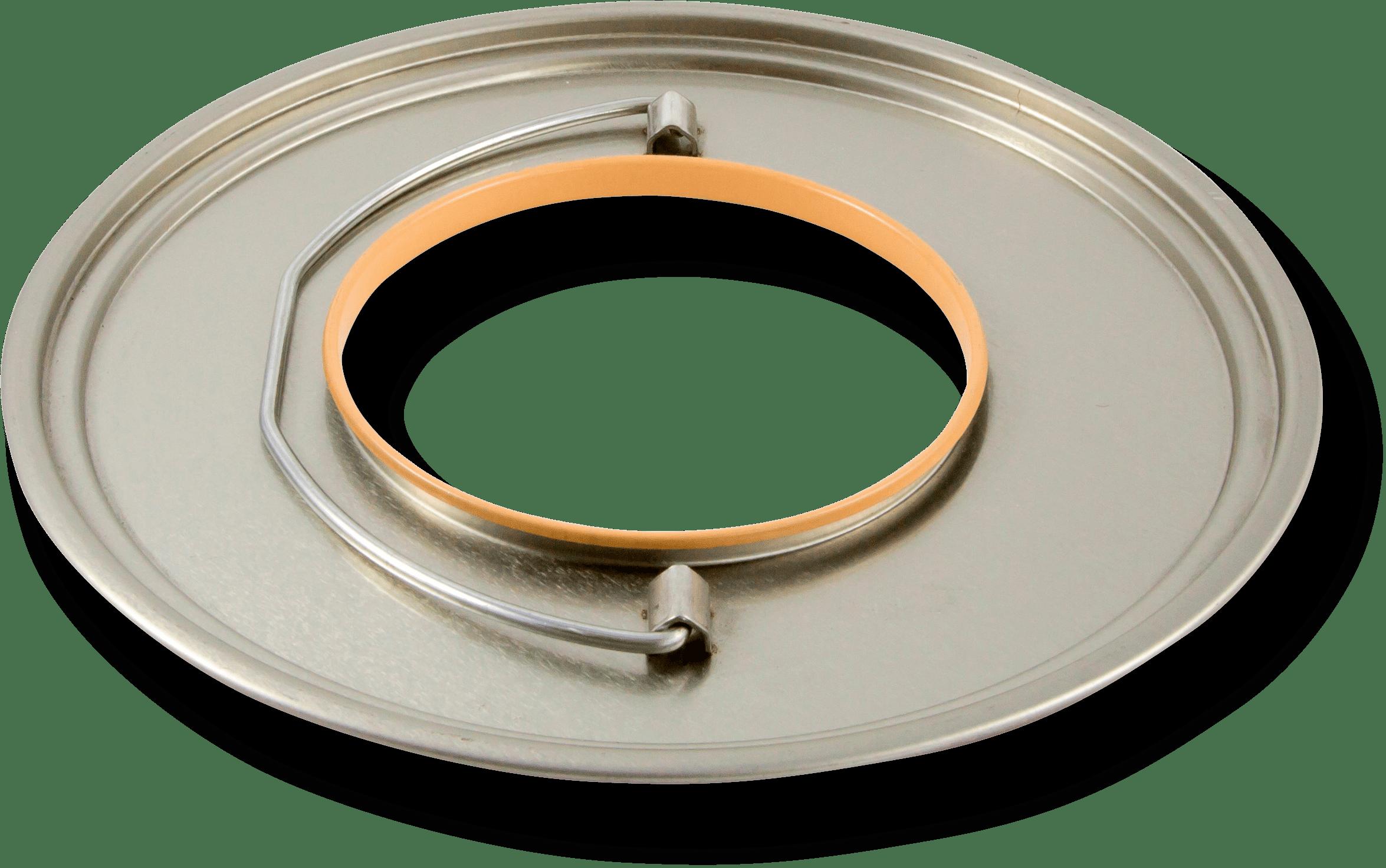 Coperchio con bocchellone foro 100 prodotto da Cavioni Fustitalia