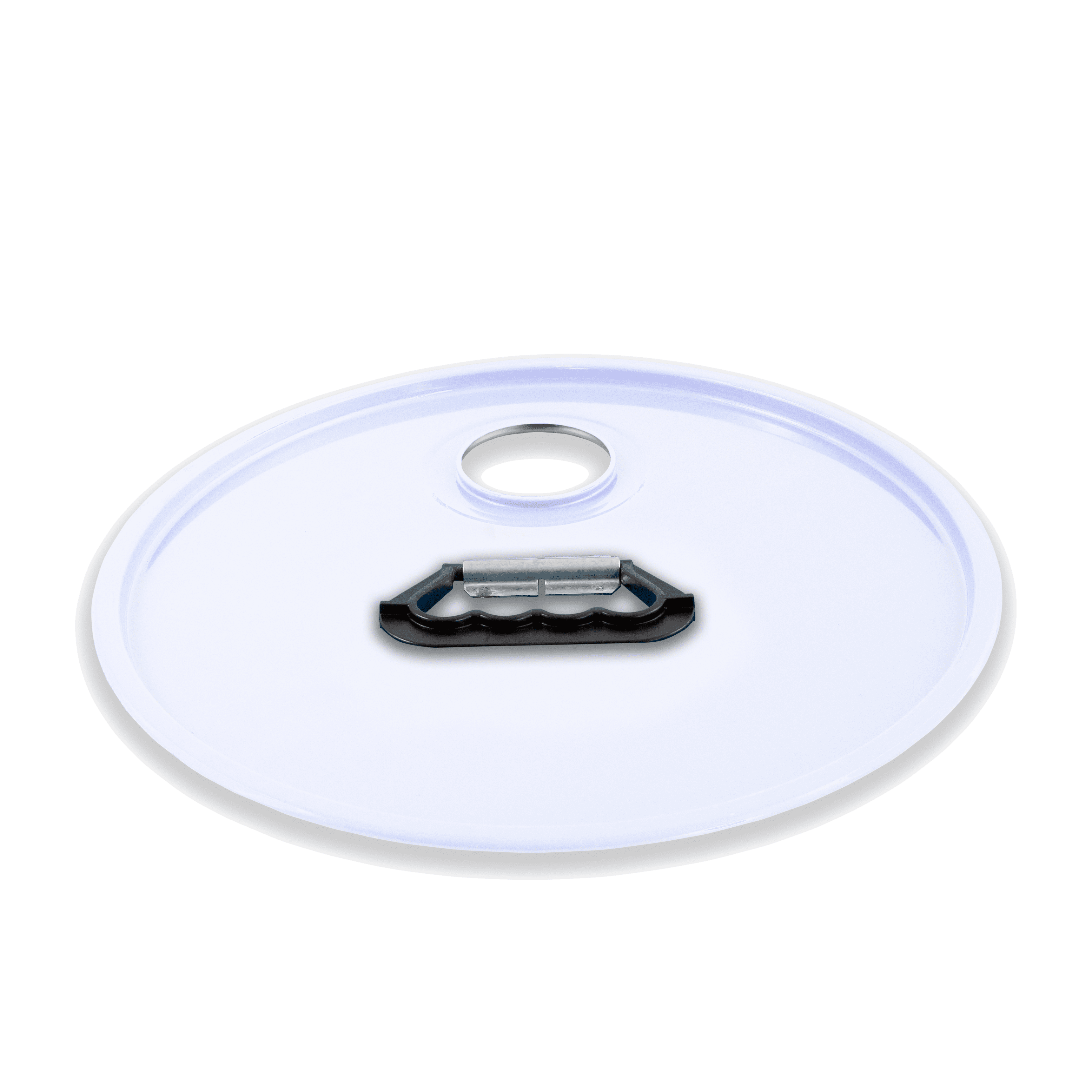 Coperchio Aggraffato con 1 foro e maniglia plastica prodotto da Cavioni Fustitalia