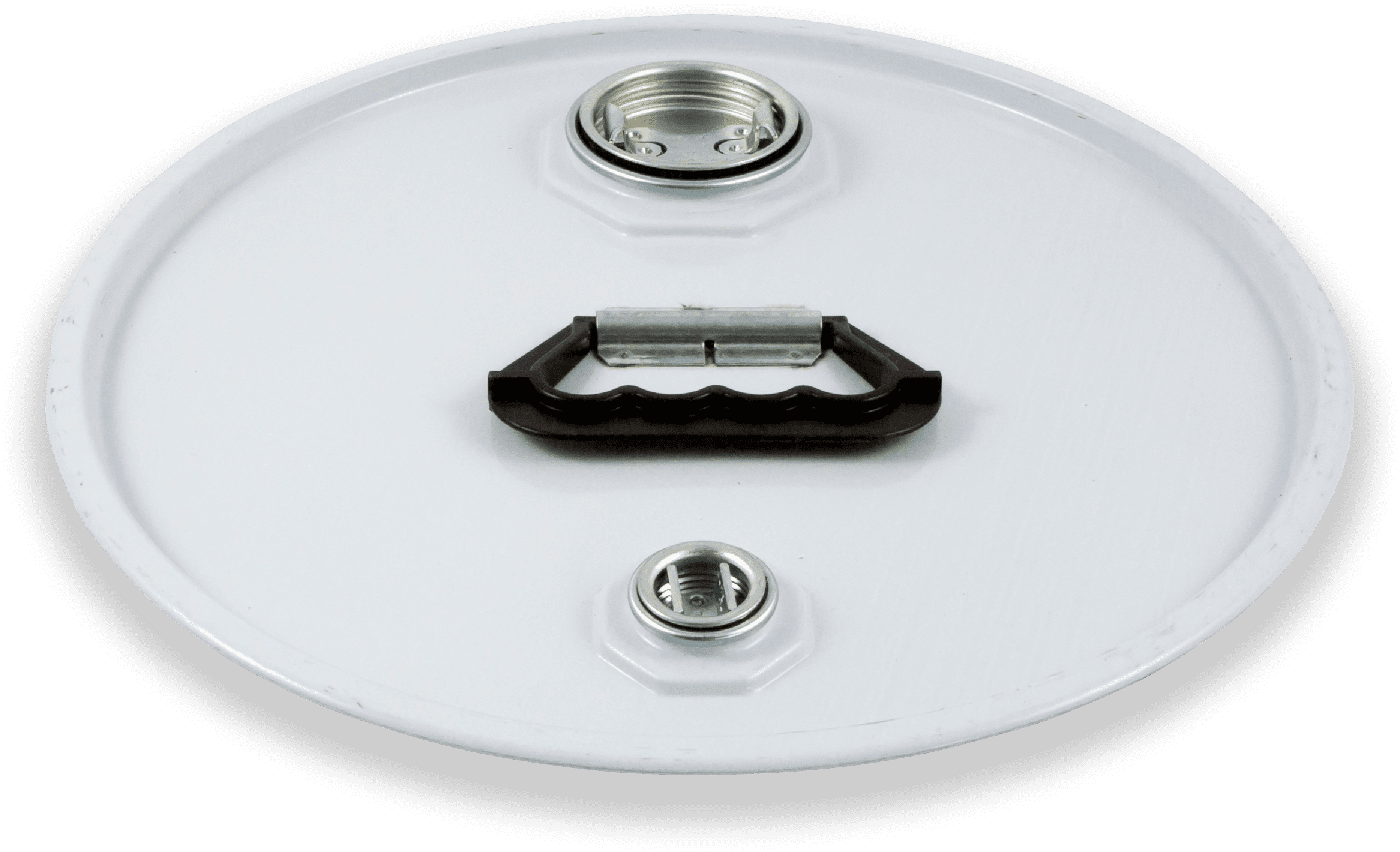 Coperchio Aggraffato con 2 fori e maniglia plastica prodotto da Cavioni Fustitalia